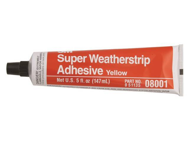ADHESIVE, YELLOW WEATHERSTRIP, 5 OUNCE TUBE