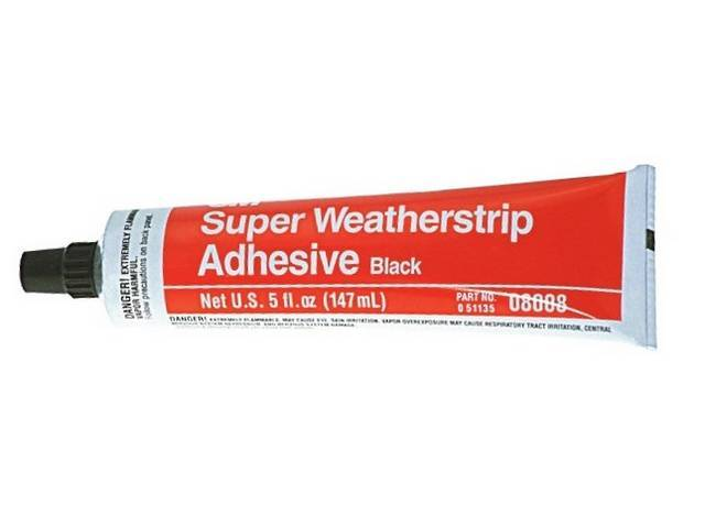 ADHESIVE BLACK WEATHERSTRIP 5 OUNCE TUBE