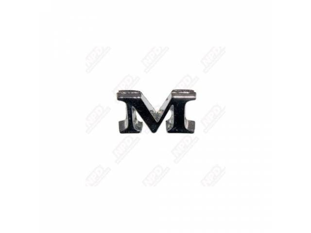 LETTER M FENDER AND TRUNK ORIGINAL ADHESIVE STYLE