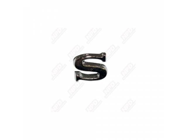 LETTER S FENDER AND TRUNK ORIGINAL ADHESIVE STYLE