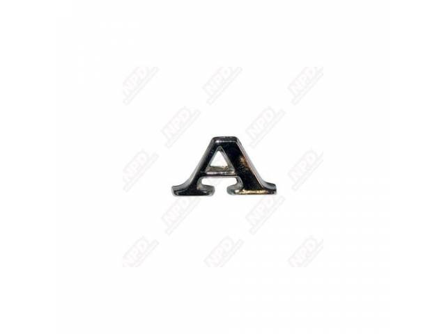 LETTER *A*, FENDER AND TRUNK, ORIGINAL, ADHESIVE STYLE,