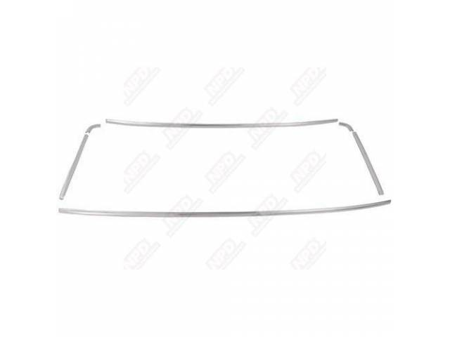 1965-66 Mustang Coupe 6 Piece Rear Window Molding Set