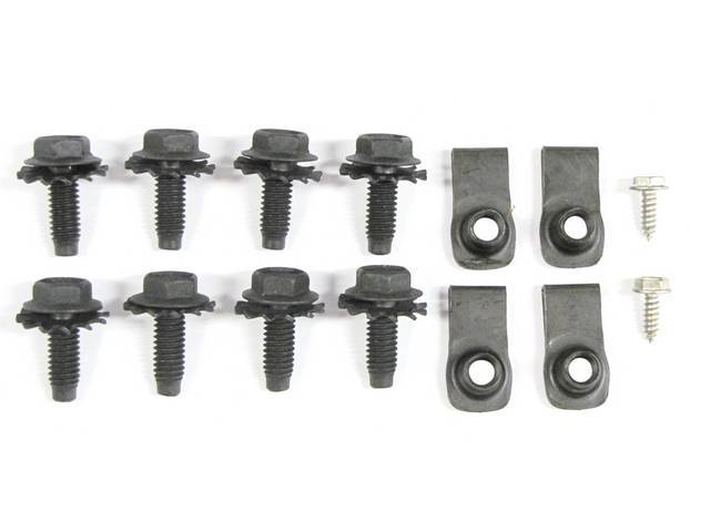 MOUNTING KIT, TRUNK LID AND HINGE, CONCOURS, (14),