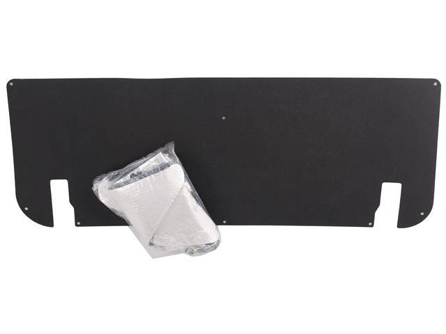 UNDER TRUNK LID COVER & INSULATION, Custom, Smooth,