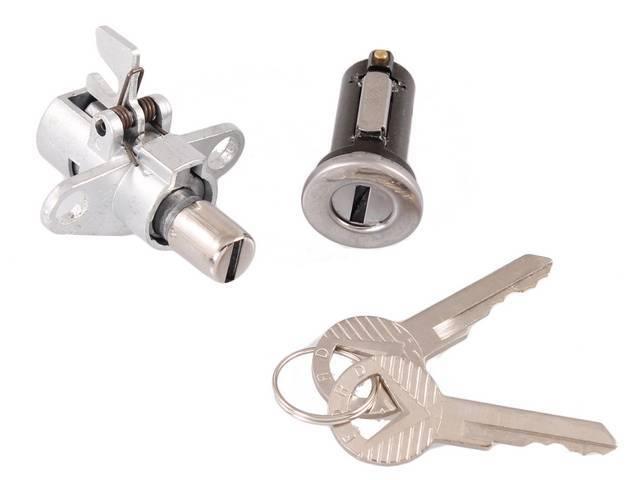 Lock Set Glove Box And Trunk Repro W/