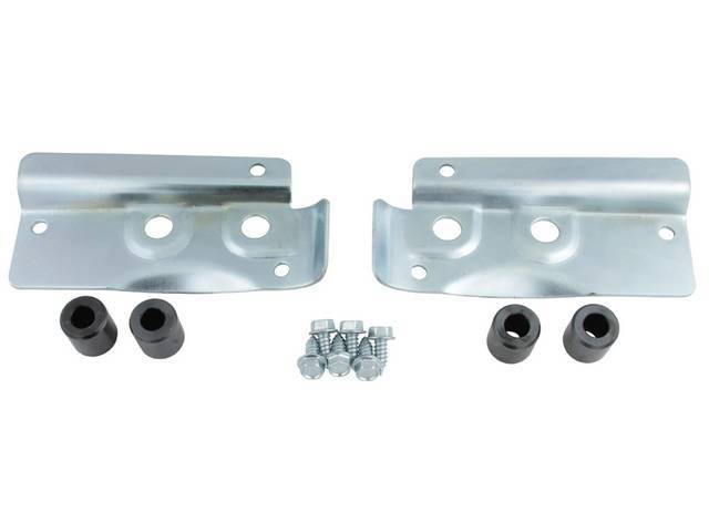 BRACKETS, Rear Wing, exact repro, pair, D0WY-6544218-A, D0WY-6544219-A