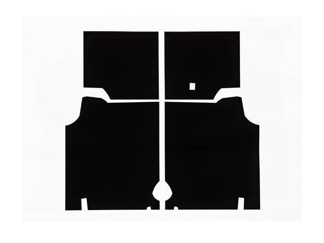 ACOUSTI-SHIELD SET, Trunk, sound and thermal insulation package,