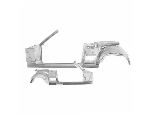 BODY SIDE FRAME ASSEMBLY, LH, Complete inner side