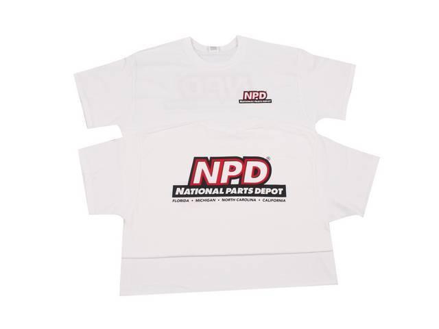 TSHIRT, NPD Corporate, classic design, White, Large, 100