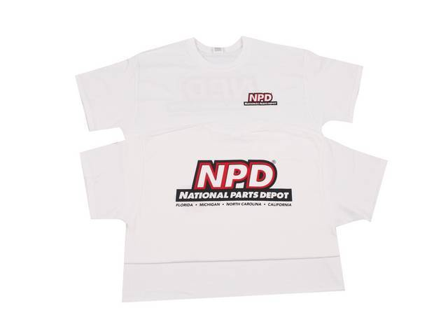 NPD Classic Design T-Shirt, White, Medium