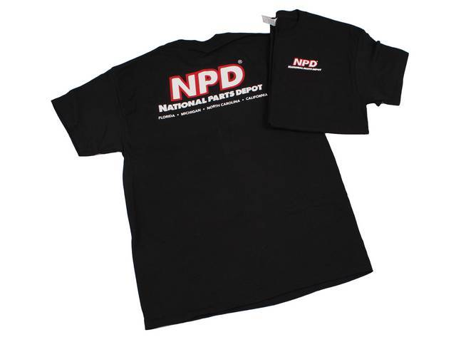 NPD Classic Design T-Shirt, Black, Extra Large