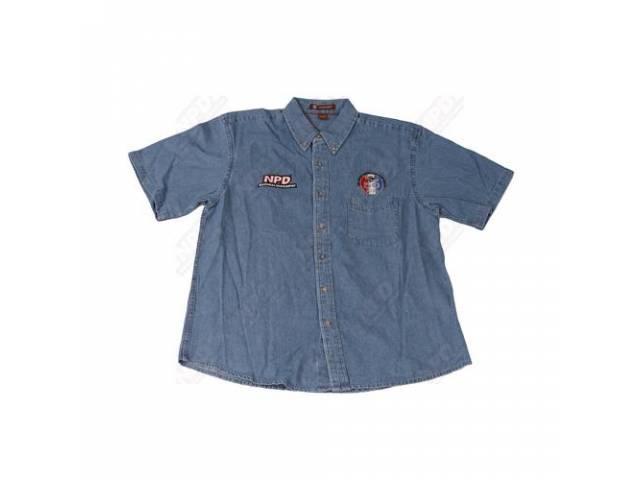 Great American Pony Drive Denim Shirt, Short Sleeve, Small