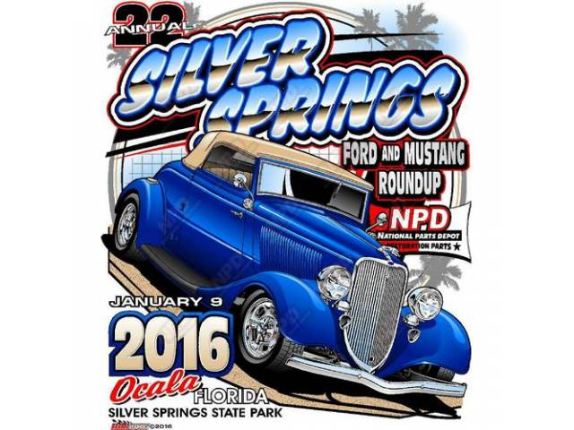 NPD 2016 Ford and Mustang RoundUp T-Shirt, Medium