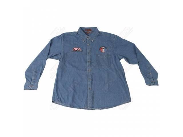 Shirt Denim Long Sleeve Double Extra Large Great