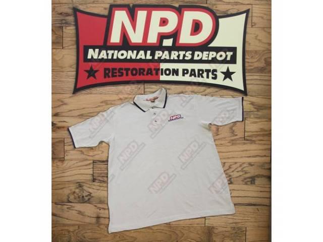Polo Shirt Npd Stone / Navy Large Harriton