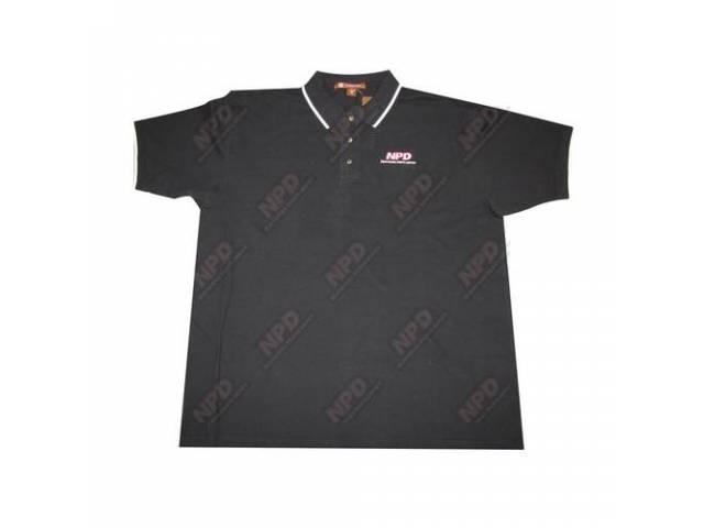 Polo Shirt Npd Black / White Large Harriton
