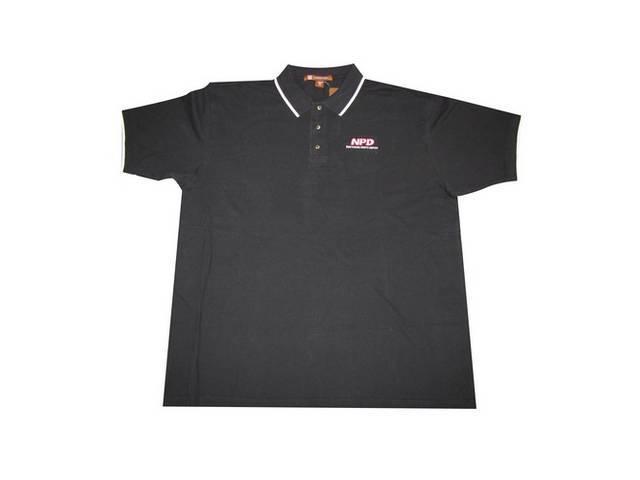 Polo Shirt Npd Black / White Medium Harriton