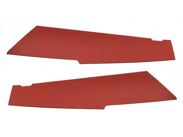 PANELS, QUARTER TRIM, ROOF C PILLAR, VERMILION (RED)