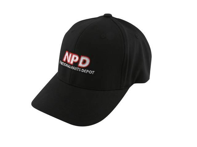Cap Npd Flexfit Black Large Features Stitched Npd
