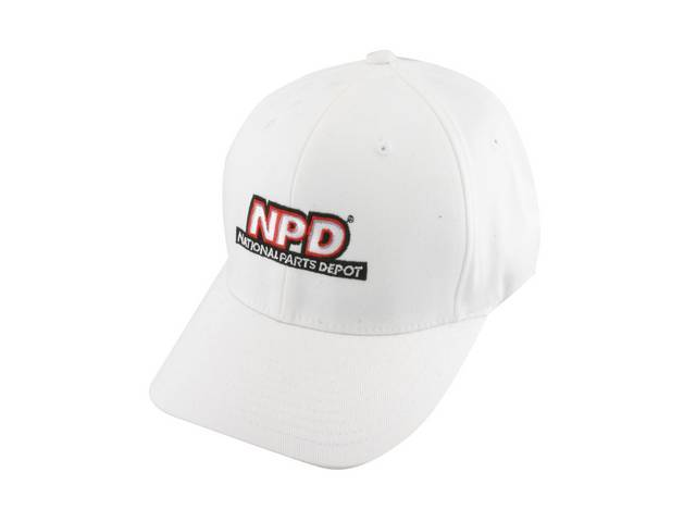 NPD Embroidered Flexfit Adult  Cotton Twill Cap in Black, Large / Extra Large