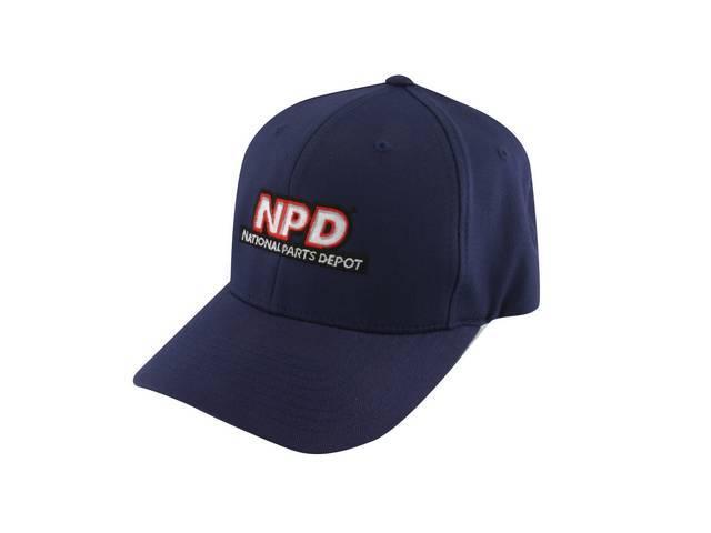 Cap Npd Flexfit Navy Blue Large Features Stitched