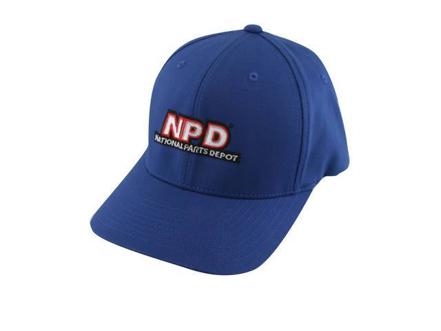 NPD Embroidered Flexfit Adult  Cotton Twill Cap in Black, Small / Medium