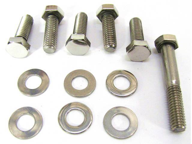 BOLT KIT, TIMING COVER, POLISHED STAINLESS STEEL HEX