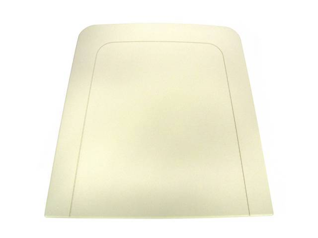 TRIM PANEL, SEAT BACK, REPRO, OFF WHITE, PAINTABLE,