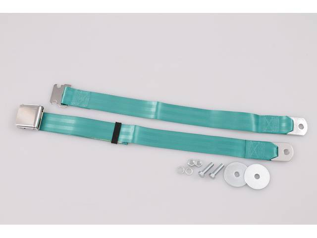 SEAT BELT, Classic Style, by RetroBelt, 2 Point,