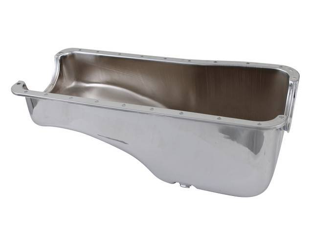 OIL PAN, Steel, replacement, chrome