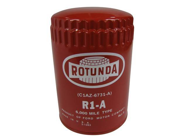OIL FILTER, RED ROTUNDA