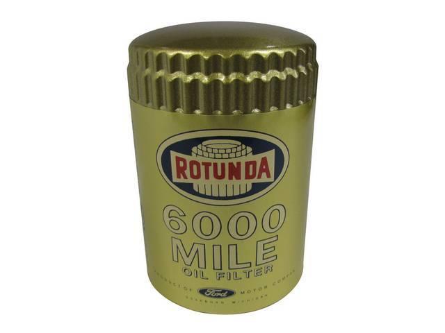 OIL FILTER, GOLD  ROTUNDA