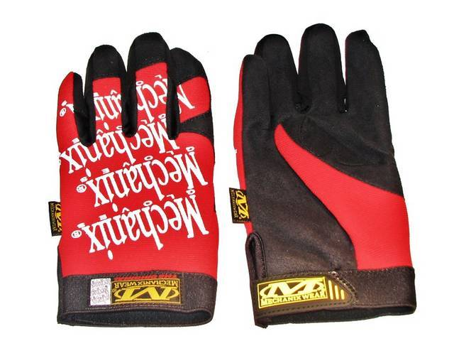 MECHANIX WEAR GLOVES ORIGINAL RED LARGE IMPROVED FINGER