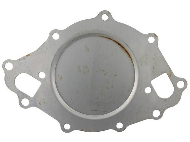 BACK PLATE, Water Pump, stamped steel, repro, C6AZ-8508-A
