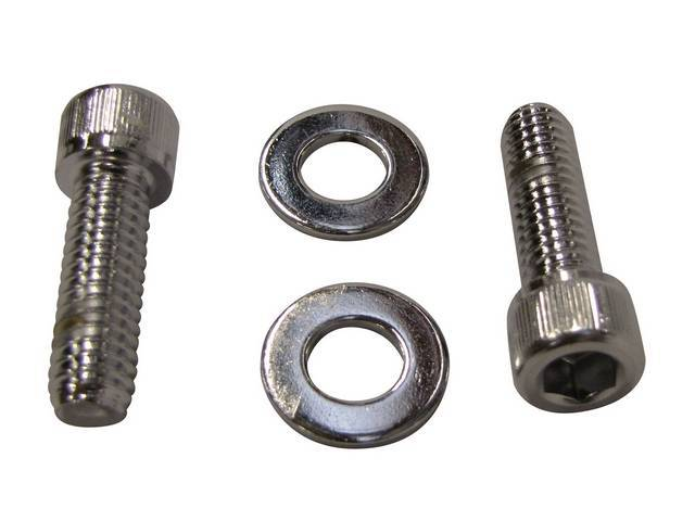 MOUNTING KIT, THERMOSTAT HOUSING, chrome Allen head bolts