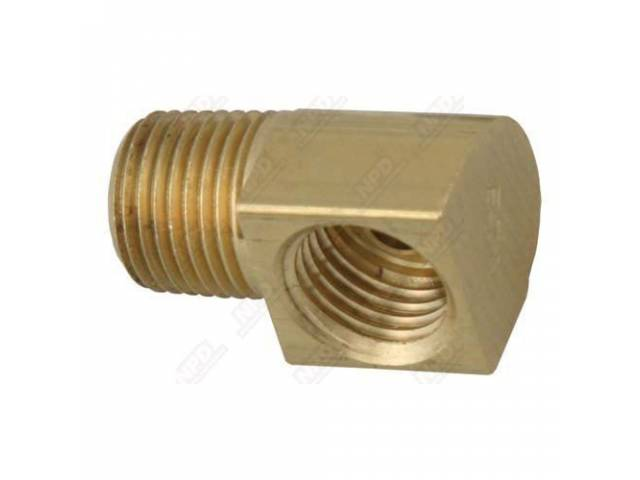 FITTING ELBOW 90 DEGREE BRASS 1/8 INCH NPT