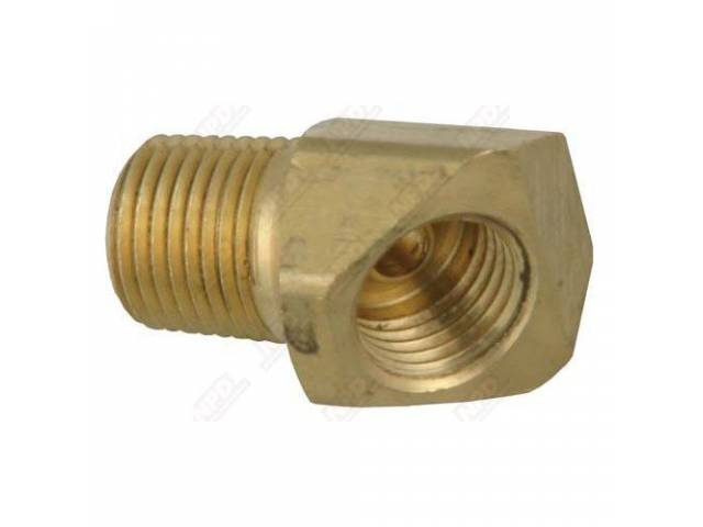 FITTING, ELBOW, 45 DEGREE, BRASS, 1/8 INCH NPT