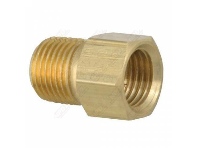 FITTING STRAIGHT BRASS 1/8 INCH NPT MALE 3/16