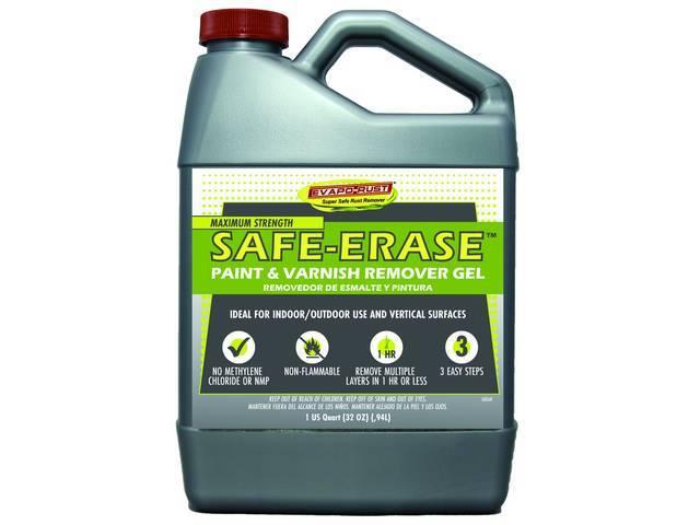 EVAPO-RUST Paint Stripper, 32 ounce bottle, Safe erase