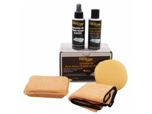 RAGGTOPP PLASTIC WINDOW CLEANER And PROTECTANT KIT Developed