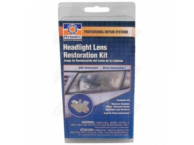 LENS RESTORATION KIT, RESTORES CLOUDED, PITTED AND YELLOWED