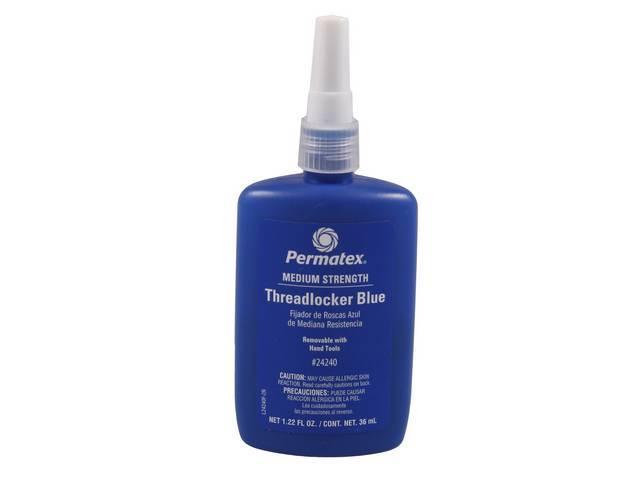THREADLOCKER, Medium Strength, Permatex, blue, 36 ml bottle,
