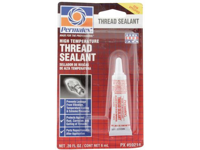 THREAD SEALANT, High Temperature, Permatex, 6 ml tube,