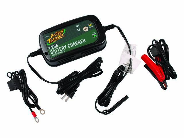 BATTERY TENDER PLUS, 1.25 amp, Infinite Sequential Monitoring