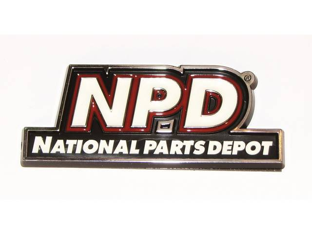 NAMEPLATE, NPD Logo, features *NPD* and *NATIONAL PARTS