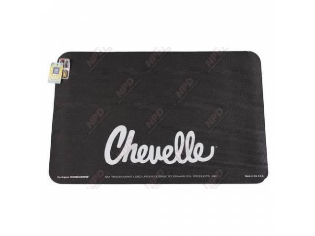 Fender Cover Black W/ Chevelle In Silver Lettering