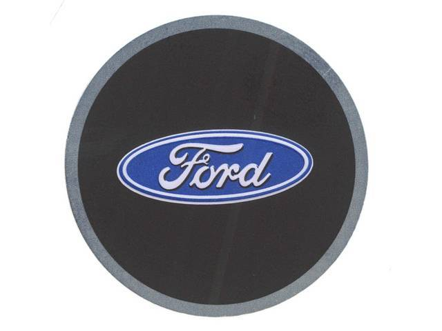 EMBLEM, Key Fob, Ford oval, Aluminum disc with