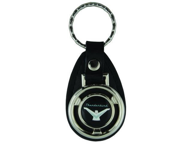 KEY FOB, Leather, Thunderbird emblem