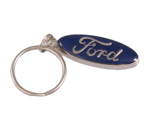 KEY FOB, Ford Oval, enamel