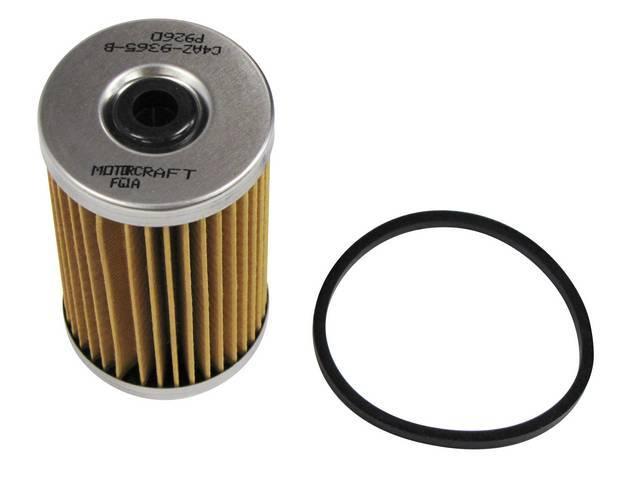 FUEL FILTER, Element, Motorcraft, inside fuel pump canister,